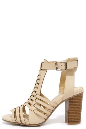 Sneak Peek Natural High Heels Sandals at Lulus.com!