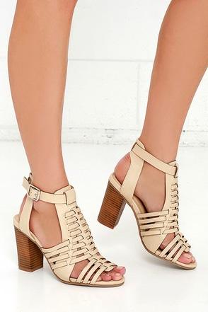 Sneak Peek Natural High Heels Sandals at Lulus.com!