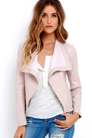 BB Dakota Arianna Blush Vegan Leather Jacket at Lulus.com!