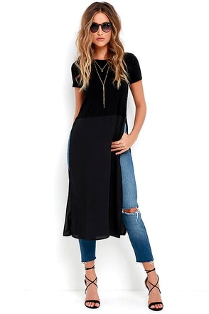 Fame Game Black Maxi Top at Lulus.com!