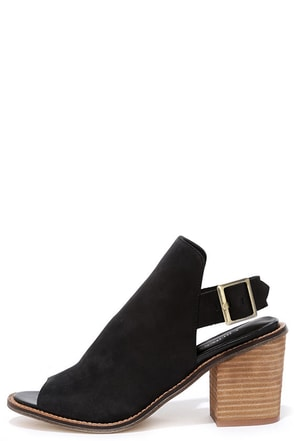 Chinese Laundry Caleb Black Suede Leather Ankle Booties at Lulus.com!