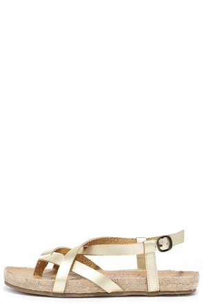 Blowfish Granola Rope Gold Sandals at Lulus.com!