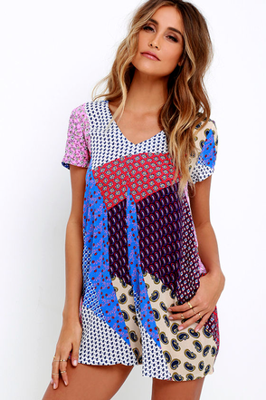 Picnic Day Blue Print Romper at Lulus.com!