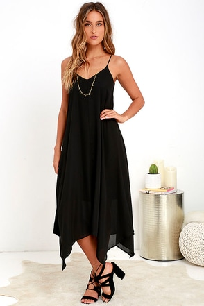 Your Love Black Midi Dress at Lulus.com!