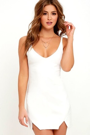Catch My Drift Ivory Bodycon Dress at Lulus.com!