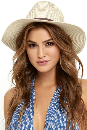 Bright Sun-Shiny Day Beige Straw Hat at Lulus.com!