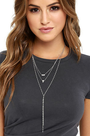 She's a Keeper Silver Rhinestone Layered Necklace at Lulus.com!