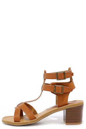 Sea Castle Tan Heeled Sandals at Lulus.com!