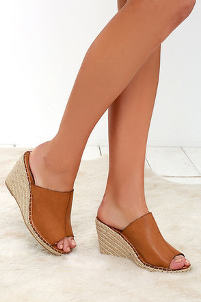Gulf of Mexico Tan Espadrille Slide Wedges at Lulus.com!