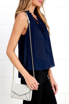 Upper Terrace White Purse at Lulus.com!