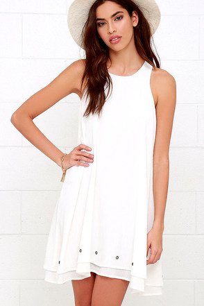 Grommet Expectations Ivory Swing Dress at Lulus.com!