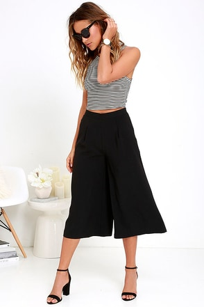 Fashion Weekend Black Culottes at Lulus.com!
