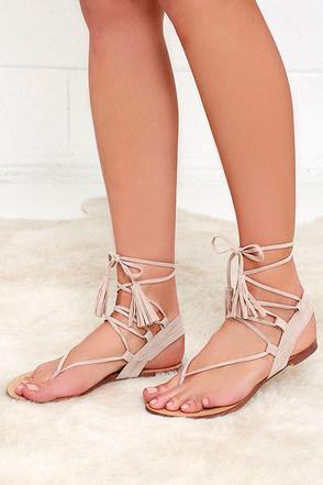 Sun Kiss Black Suede Lace-Up Flat Sandals at Lulus.com!