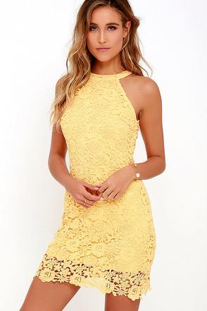 Love Poem Yellow Lace Dress 1
