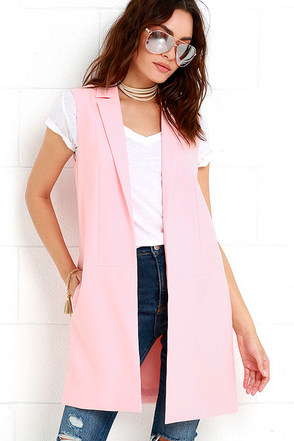 Across Town Long Peach Vest at Lulus.com!