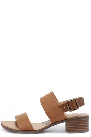 Tulum Trek Tan Heeled Sandals at Lulus.com!