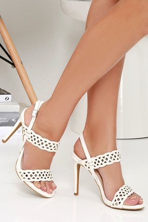 Suga Suga White Cutout Heels at Lulus.com!