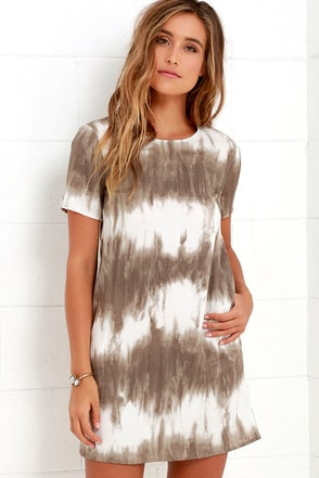 Seawall Ivory and Teal Print Shift Dress at Lulus.com!