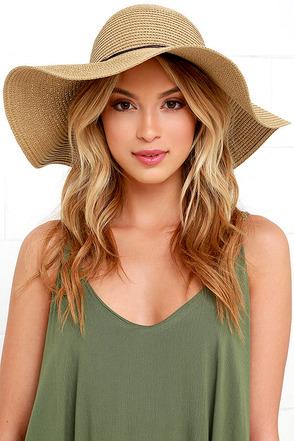 Sunny Street Tan Floppy Straw Hat at Lulus.com!