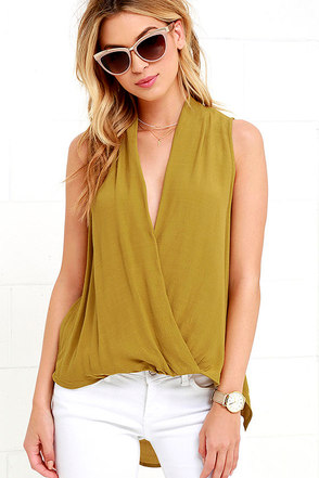 As I Was Saying Chartreuse Top at Lulus.com!