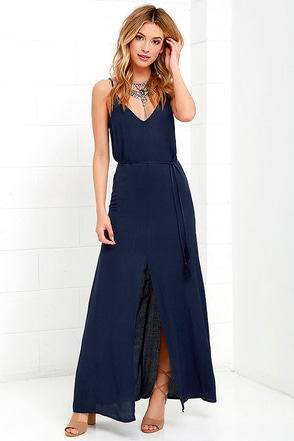 Fresh Air Navy Blue Maxi Dress at Lulus.com!