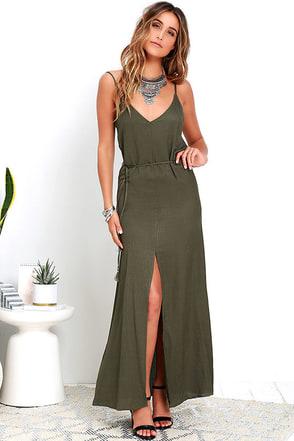 Fresh Air Olive Green Maxi Dress at Lulus.com!
