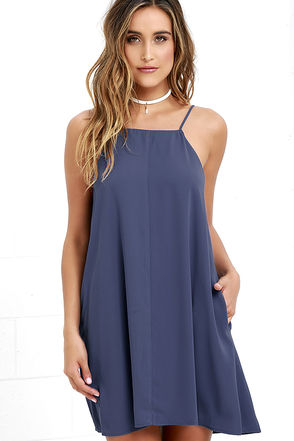Clarion Call Denim Blue Dress at Lulus.com!