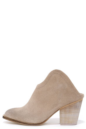 Chinese Laundry Kelso Grey Suede Leather Mules at Lulus.com!