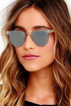 Spitfire Astro Clear and Silver Mirrored Sunglasses at Lulus.com!