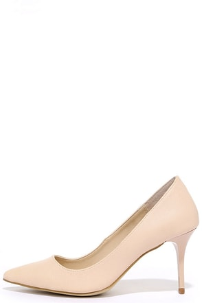 Madden Girl Baebae Nude Pumps at Lulus.com!
