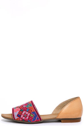 Latigo Milly Fiesta Multi Leather Embroidered Flats at Lulus.com!
