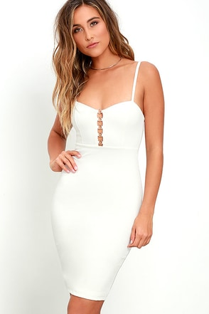 For the Thrill Ivory Bodycon Dress at Lulus.com!