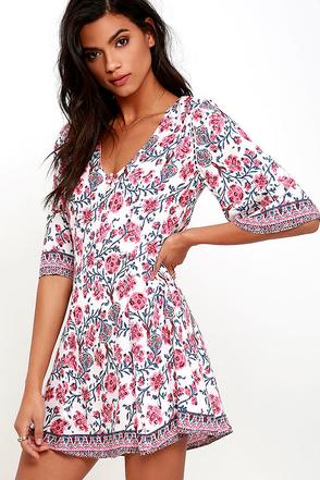Primrose Promenade Pink Floral Print Dress at Lulus.com!