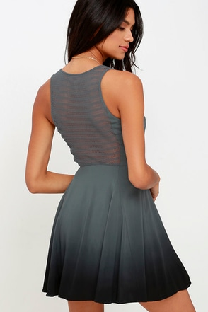 Others Follow Fragile Floral Grey Dip-Dye Dress at Lulus.com!