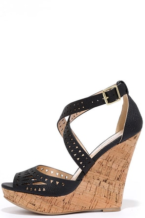 Prize Pickings White Platform Wedge Sandals at Lulus.com!
