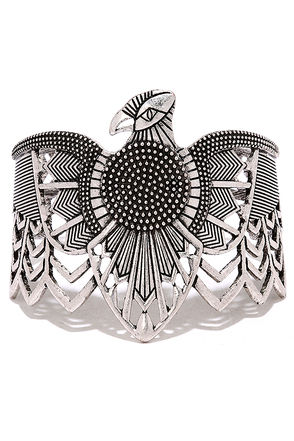 Soul Searching Silver Cuff Bracelet at Lulus.com!
