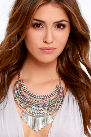 Pending Request Silver Statement Necklace at Lulus.com!