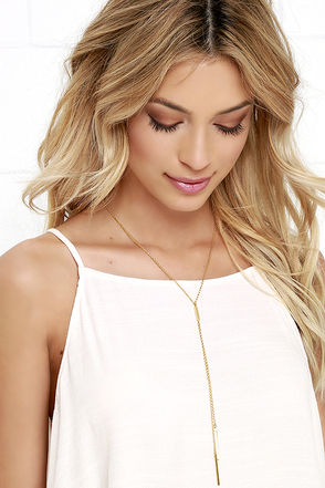 Free Flowing Gold Drop Necklace at Lulus.com!