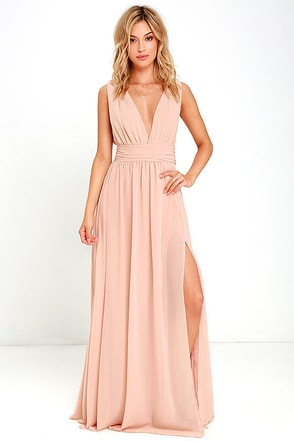 Heavenly Hues Blush Maxi Dress 1