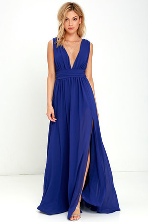 Heavenly Hues Royal Blue Maxi Dress 1