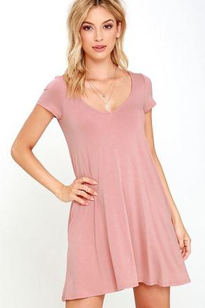 All a Dream Blush Swing Dress at Lulus.com!
