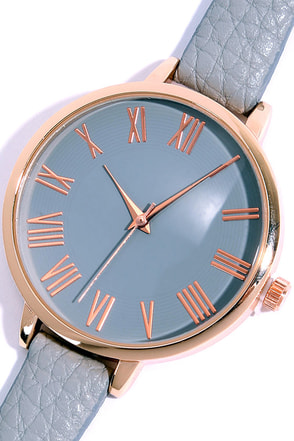 Time Can Tell Gold and Taupe Leather Watch at Lulus.com!