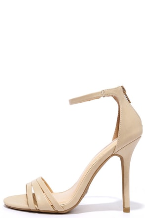 Brand New Day Natural Ankle Strap Heels at Lulus.com!
