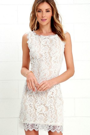 Flair for Fancy Ivory Lace Dress at Lulus.com!