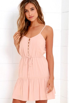 Jack by BB Dakota Finella Blush Pink Lace Dress at Lulus.com!
