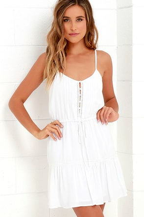 Jack by BB Dakota Finella Ivory Lace Dress at Lulus.com!