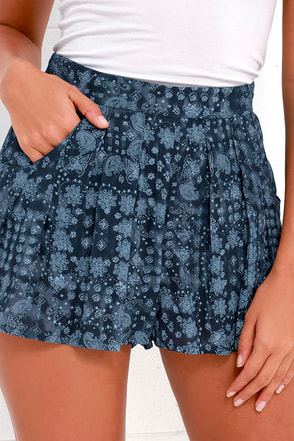 Seven Seas Navy Blue Print Shorts at Lulus.com!