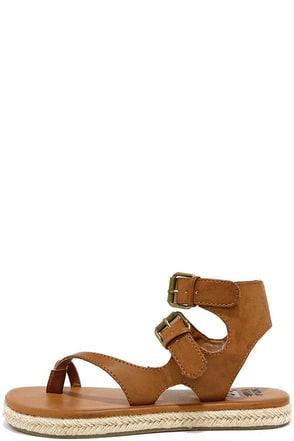 Billabong Gone Beach Trippin Brown Thong Sandals at Lulus.com!