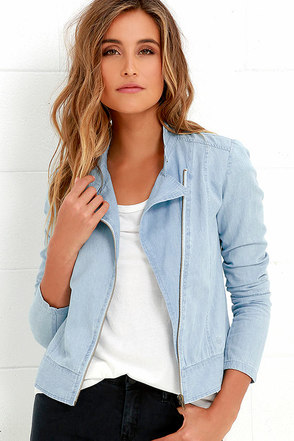 Element Eden Jealous Light Blue Chambray Jacket at Lulus.com!