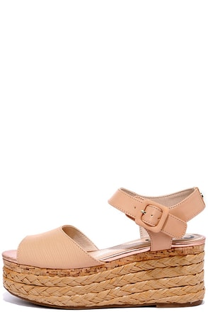 Circus by Sam Edelman Warren Natural Flatform Sandals at Lulus.com!